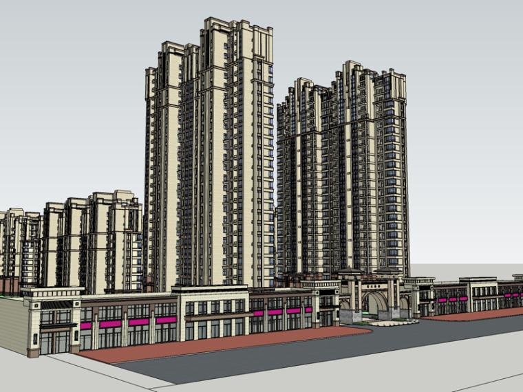 现代住宅SketchUp模型下载_1