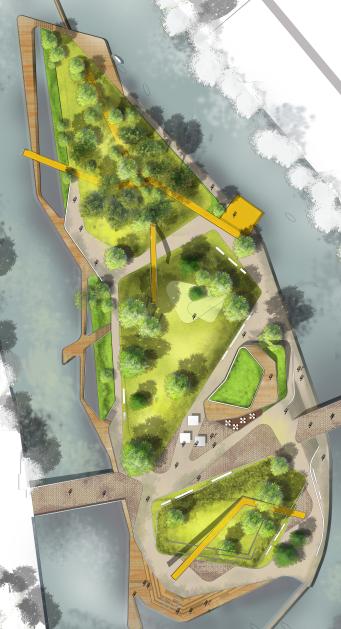 3套高端景观彩色平面图PSD分层素材,生态、森林、滨水公园平面_1