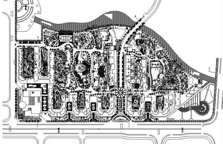 [上海]某小区居住区全套绿化景观施工图设计(CAD)