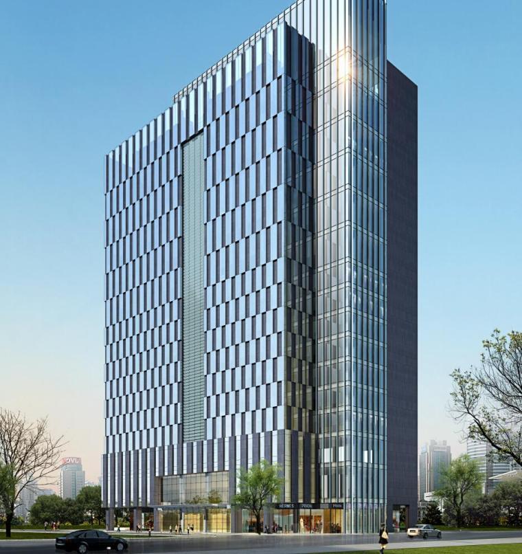 [广东]古典风格高层科技企业办公楼建筑设计方案文本(效果图+CAD图)