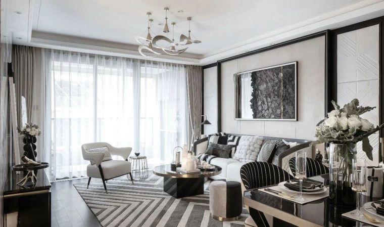 金辉地产白马云著样板间|轻奢黑白灰的现代风格