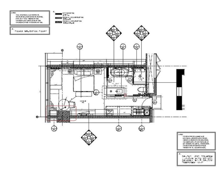 [江苏]知名酒店客房设计施工图(含效果图)