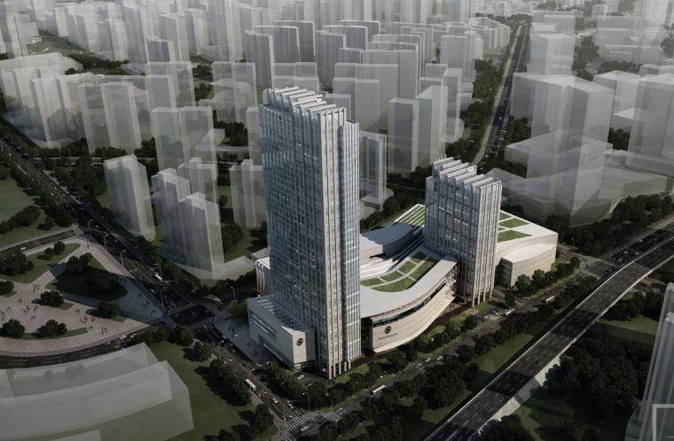 [湖北]武汉中央商务区泛海城市广场商业综合体建筑设计方案文本