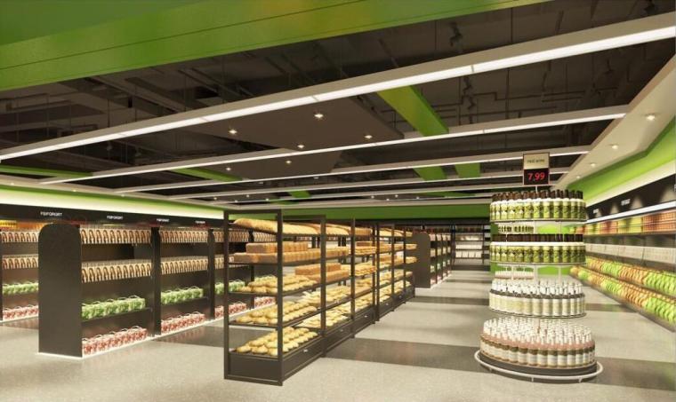 浙江多层商业超市电气图