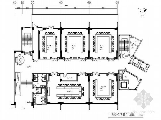 [四川]某现代风格会议中心室内装修施工图(含效果)