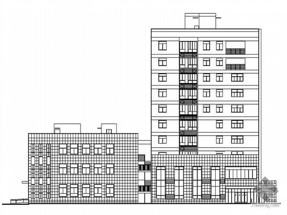 [绣山]某街道社区十层服务中心、菜市场建筑施工套图(满足节能标准)