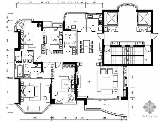 [佛山]200平米欧式四居室装修图