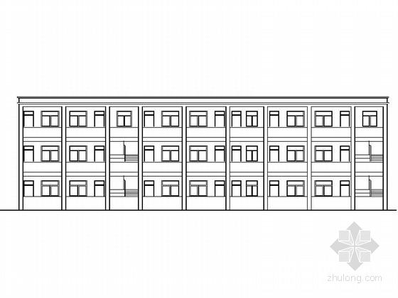 [安徽]多层简洁初级中学教学楼及宿舍建筑施工图
