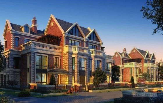 [大连]英式风情小镇住宅小区及商业规划设计方案文本-英式风情小镇住宅区及商业规划效果图