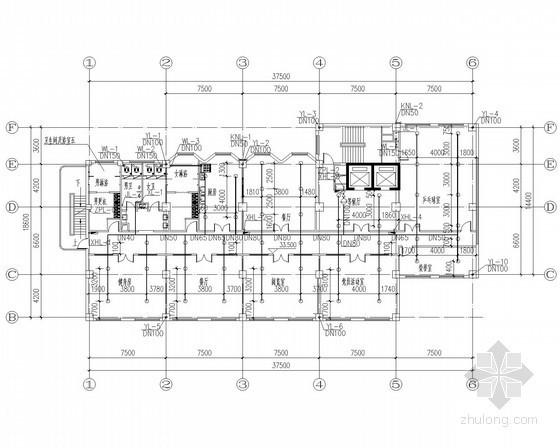 [安徽]高层住宅楼给排水消防施工图(气溶胶灭火系统)