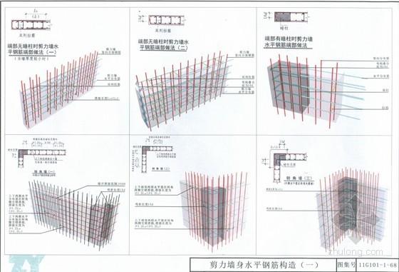 建筑工程11G101全套图集三维平法结构识图(270余页 大量三维图)