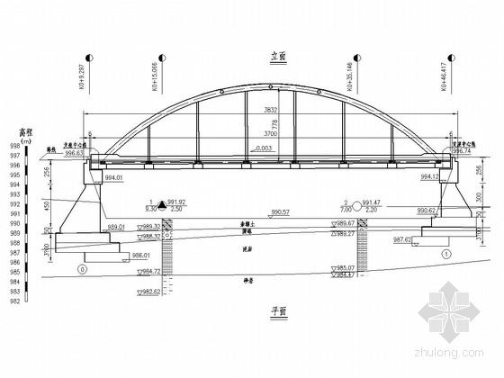 35.4m钢管混凝土系杆拱桥全套设计图(40张)
