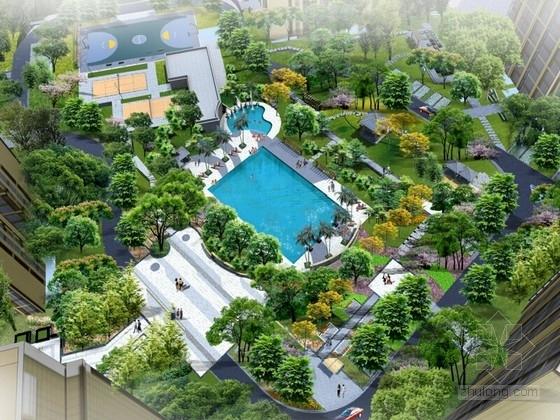 [四川]滨江灵活住宅小区景观设计方案
