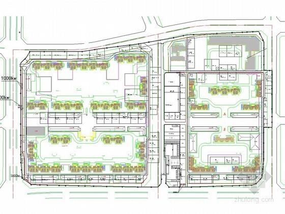 大型住宅综合小区工程施工现场平面布置图