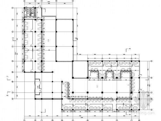 [北京]知名企业现代风格服务大厅室内CAD装修施工图(含效果图)