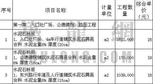 广州某敬老院二、三期市政工程清单投标书