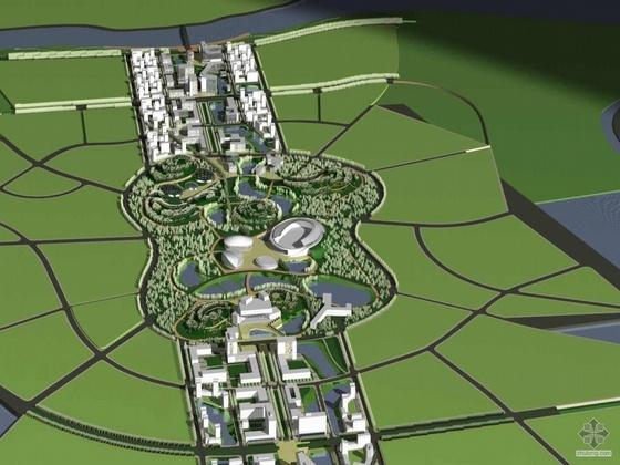 [广州]某大学城中心区控规及城市设计方案文本