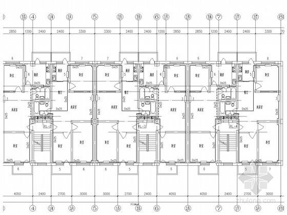 商业住宅楼散热器采暖系统设计施工图(含热力系统)