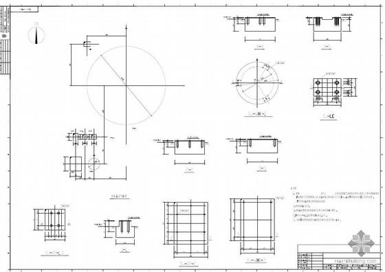 某大空分装置氮气系统土建结构施工图