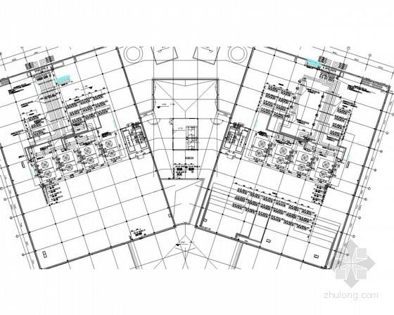 [山西]机房模块楼空调通风排烟初步设计图(动力配电 双冷源精密空调)