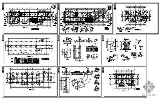 某坡屋面框架办公楼结构图