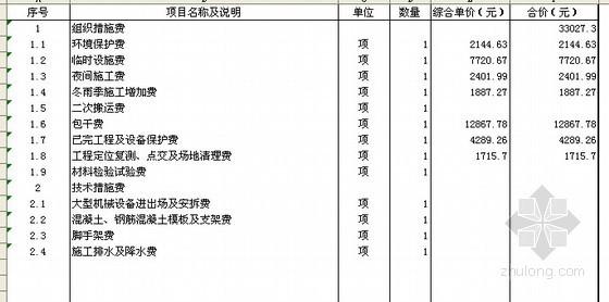 绿化工程量清单编制实例(含单价分析)