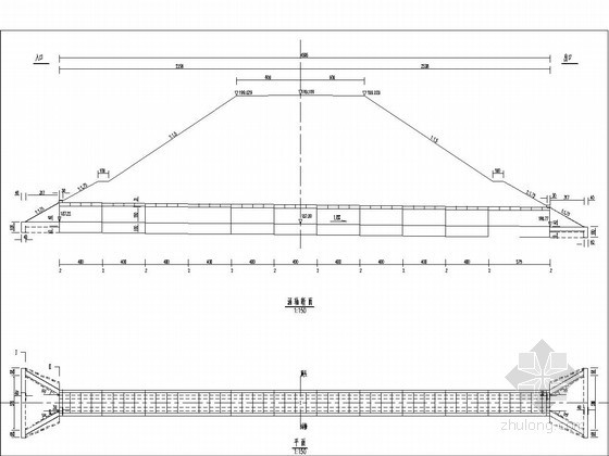 1.5米钢筋混凝土盖板涵布置图(正交)