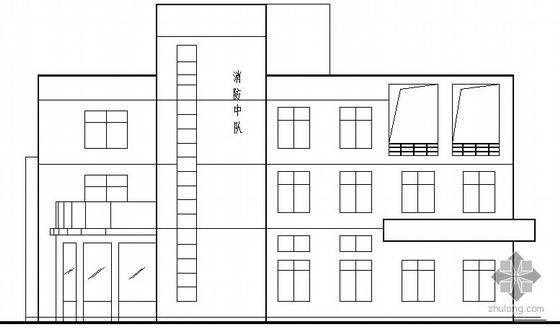 某市消防中队三层办公楼建筑施工图