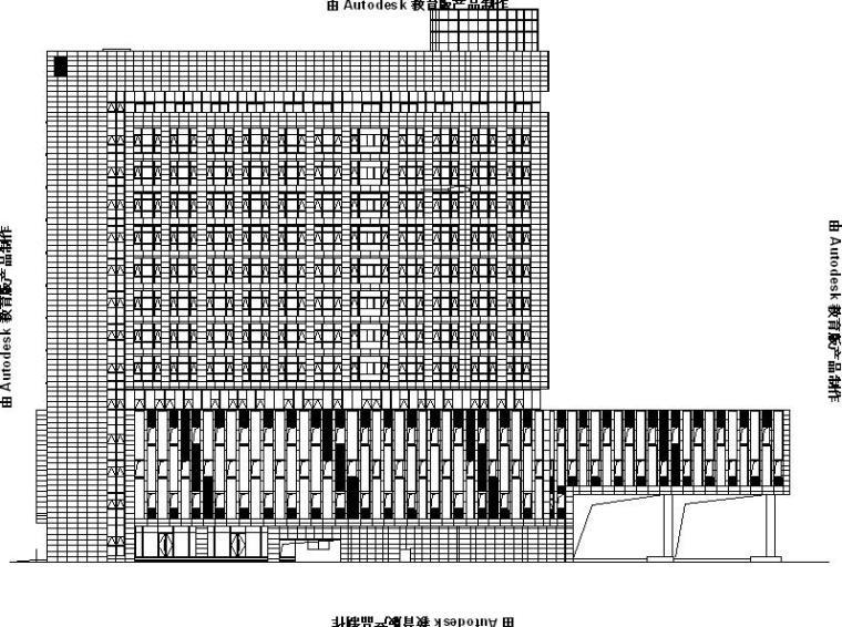 [浙江]高层连廊式综合型办公楼幕墙工程施工图