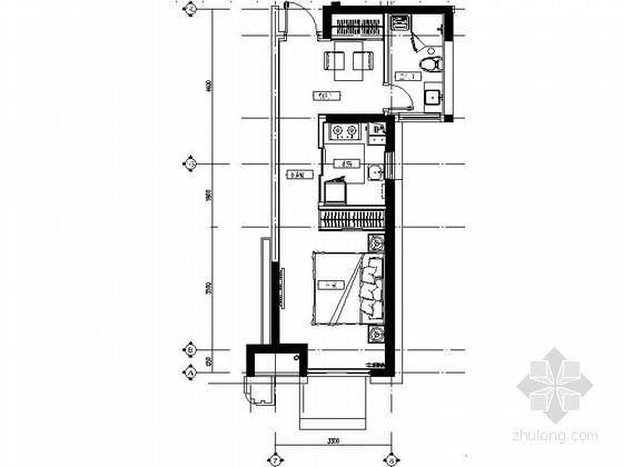 [山东]现代风格小户型样板间装修施工图