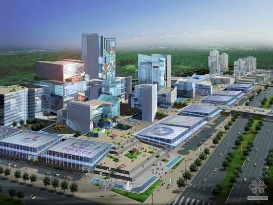 [芜湖]某汽车城规划及建筑设计文本(含效果图)(知名设计院)