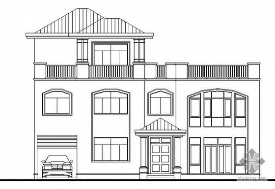 [东莞市]某豪园三期别墅区(A7型别墅)建筑结构水电施工图(含节能
