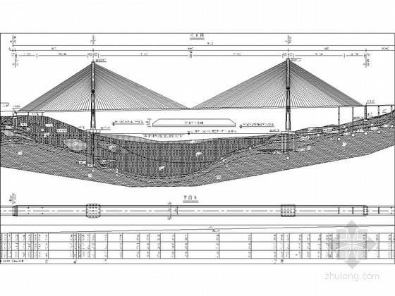 主跨460m双塔PC梁斜拉桥全桥施工图(127张 工程重大)