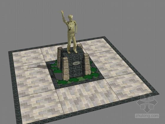 雕塑小景SketchUp模型下载