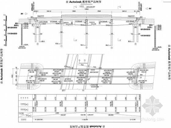 [湖北]4x25m预应力混凝土先简支后连续箱梁桥施工图86张(桥面全宽15.5m)