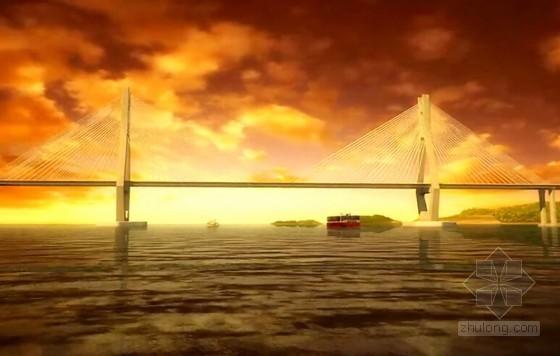 [浙江]跨海双塔双索面PC梁斜拉桥施工节点和工艺控制3D动画演示(19分钟)