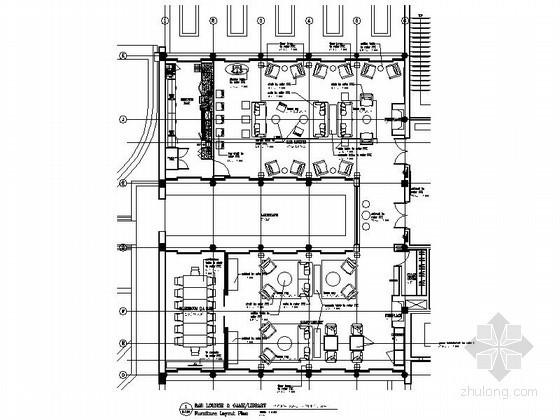 新中式酒店大堂室内装修施工图