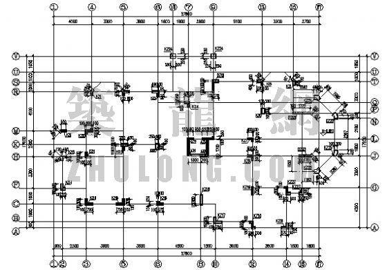 坡屋顶洋房结构图