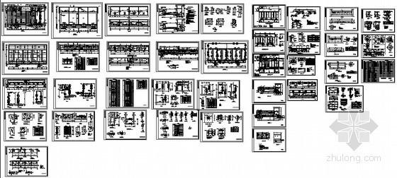 某市污水处理厂滤池结构设计图