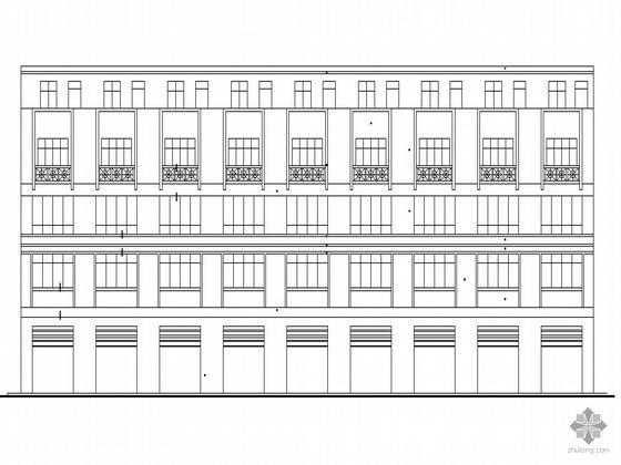 [云山路]某四层联体房建筑施工套图