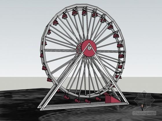 摩天轮SketchUp模型下载
