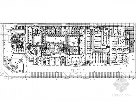 [河北]大型综合广场空调通风及防排烟系统设计施工图(大院作品)