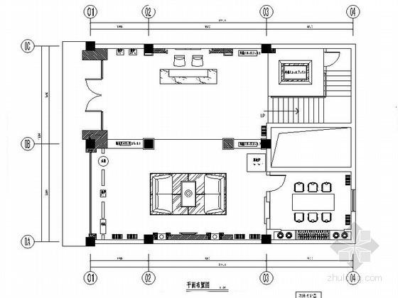 156㎡中式空调专卖店面室内装修图