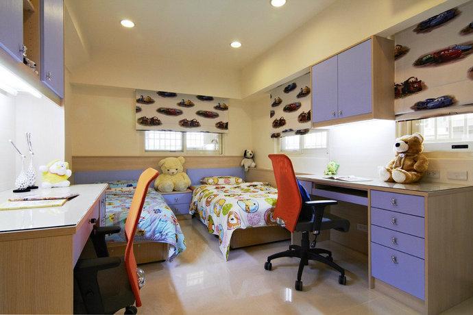 115平方米现代简约儿童房背景墙装修效果图_14