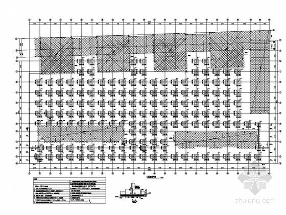 [山东]地下一层框架结构车库结构施工图
