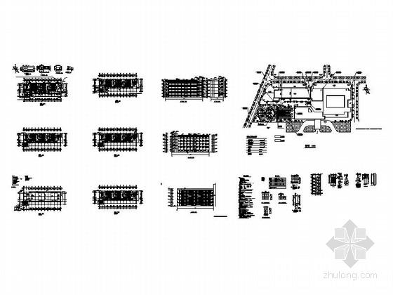 [福建]五层框架结构玻璃幕墙高等院校教学楼建筑施工图-五层框架结构玻璃幕墙高等院校教学楼建筑缩略图
