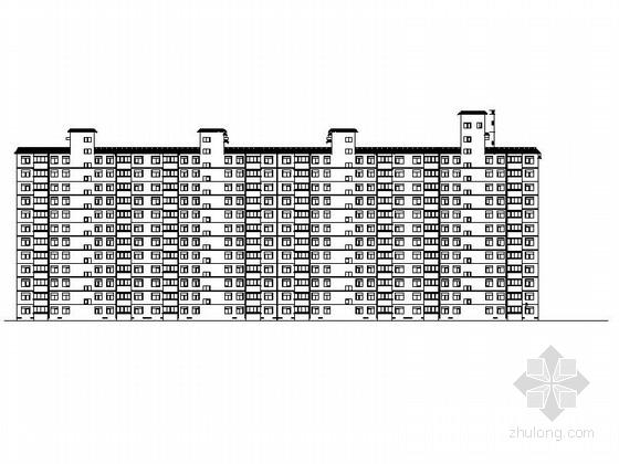 [西安]高层剪力墙结构高等院校教师住宅楼建筑施工图