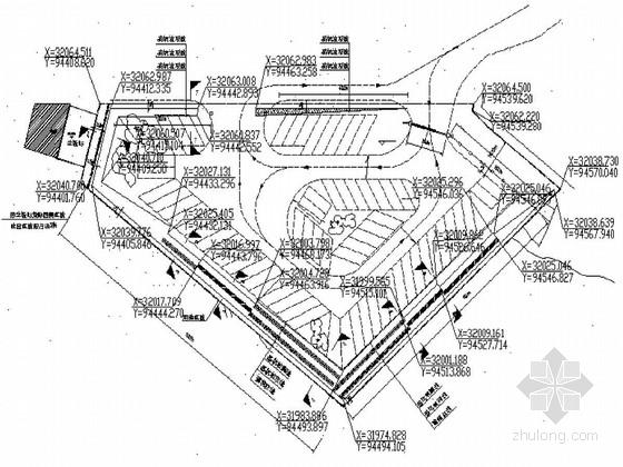 [广东]某地下停车场基坑锚索边坡支护及监测设计图