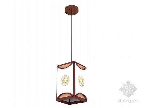 简单中式小吊灯3D模型下载