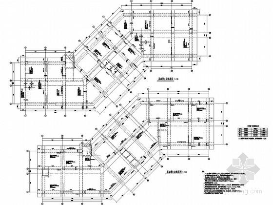 地上16层抗震墙结构办公楼结构施工图